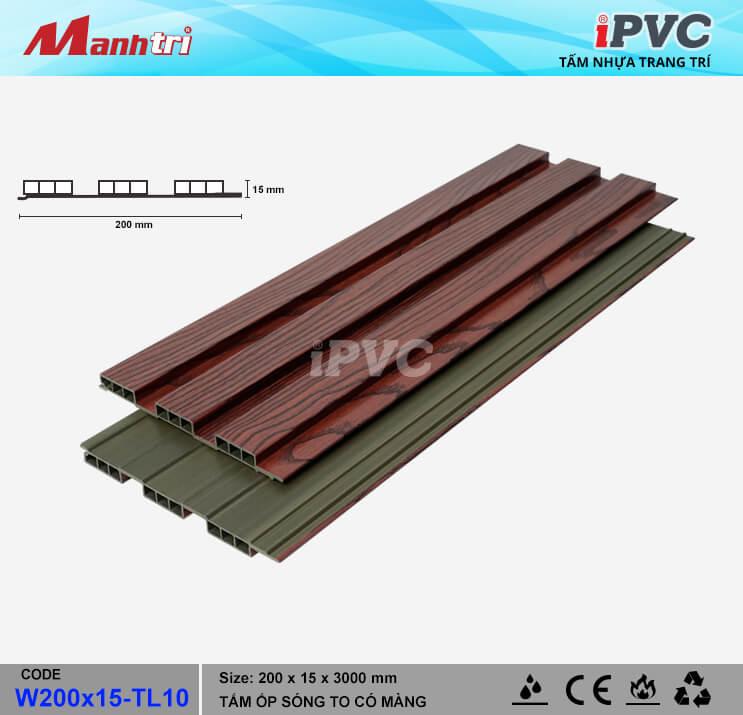iPVC W200x15-TL10 Ốp Trần, Tường
