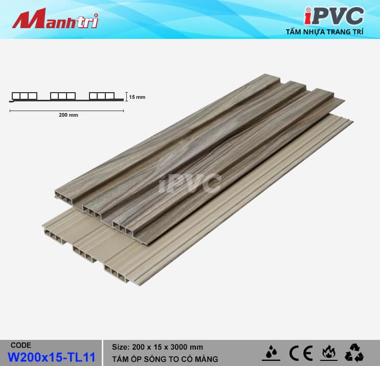 iPVC W200x15-TL11 Ốp Trần, Tường