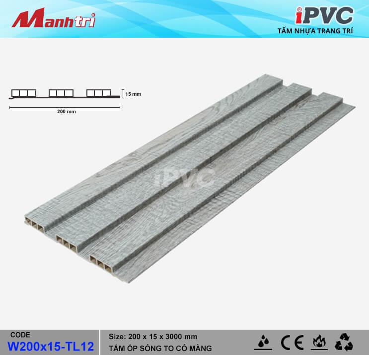 iPVC W200x15-TL12 Ốp Trần, Tường
