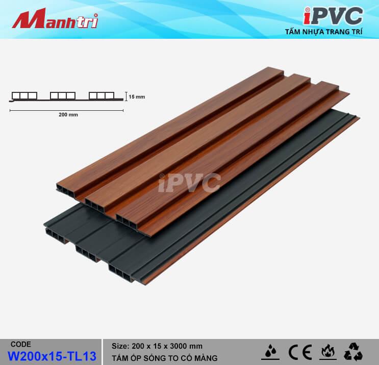 iPVC W200x15-TL13 Ốp Trần, Tường