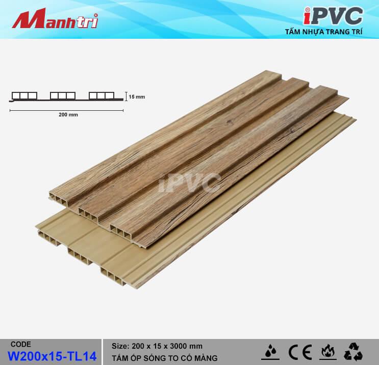 iPVC W200x15-TL14 Ốp Trần, Tường