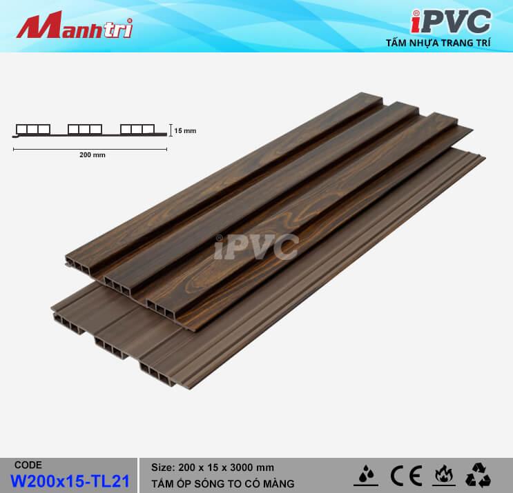 iPVC W200x15-TL21 Ốp Trần, Tường