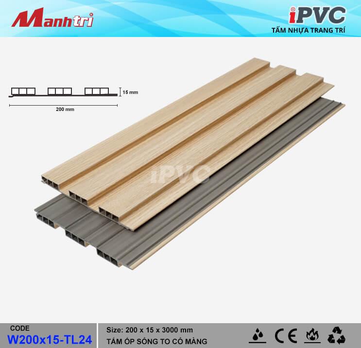 iPVC W200x15-TL24 Ốp Trần, Tường