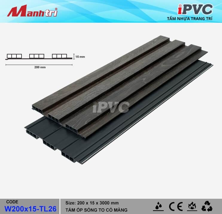 iPVC W200x15-TL26 Ốp Trần, Tường