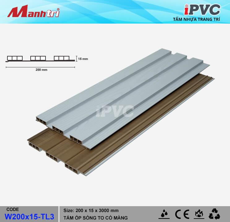 iPVC W200x15-TL3 Ốp Trần, Tường