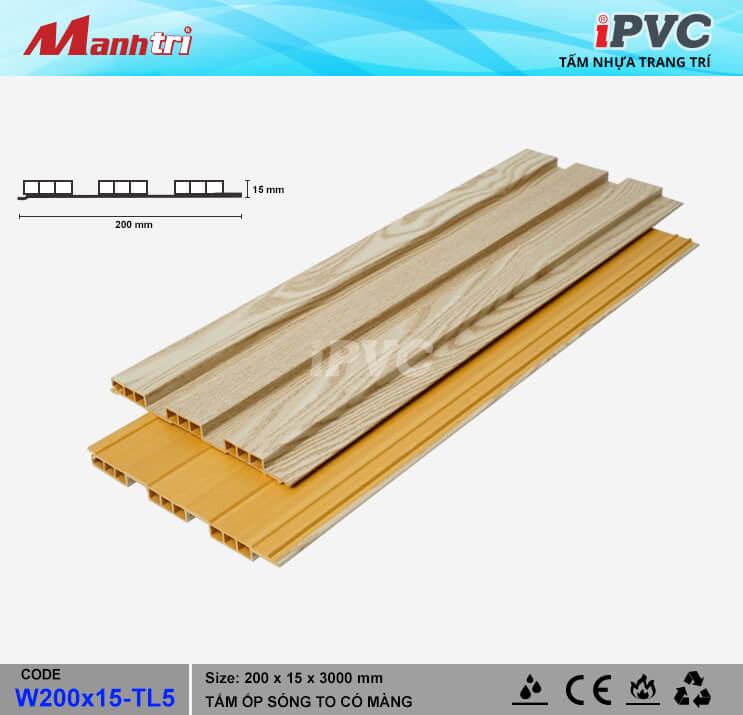iPVC W200x15-TL5 Ốp Trần, Tường