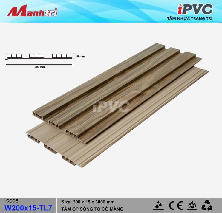 iPVC W200x15-TL7 Ốp Trần, Tường