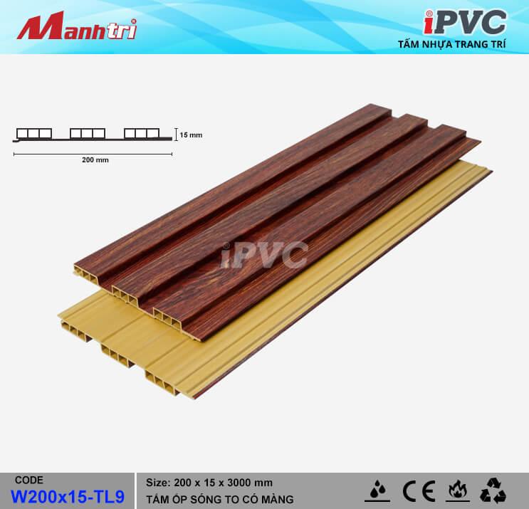 iPVC W200x15-TL9 Ốp Trần, Tường
