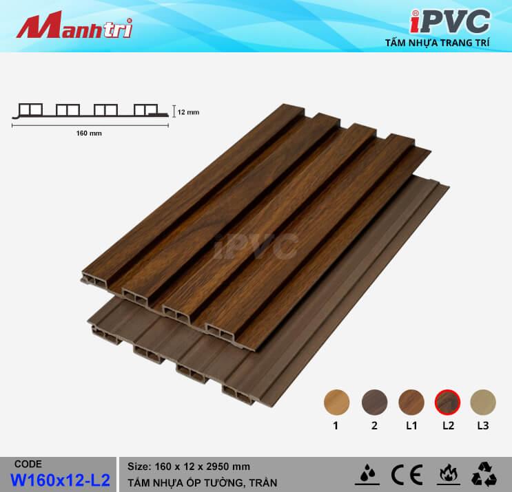 iPVC W160x12-L2 ốp trần, tường