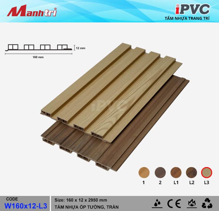 iPVC W160x12-L3 ốp trần, tường