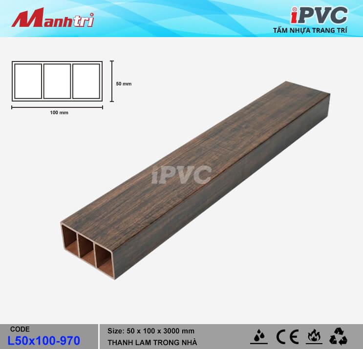 iPVC L100x50-907 Thanh Lam Gỗ