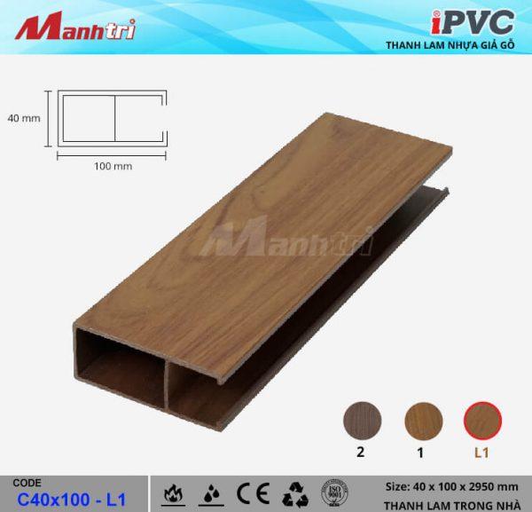 iPVCC40x100-L1 Thanh Lam Gỗ