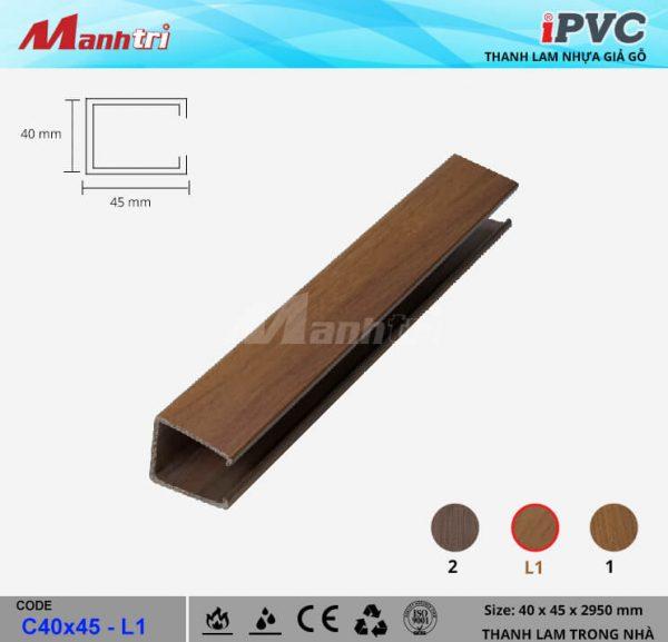iPVCC40x45-L1 Thanh Lam Gỗ