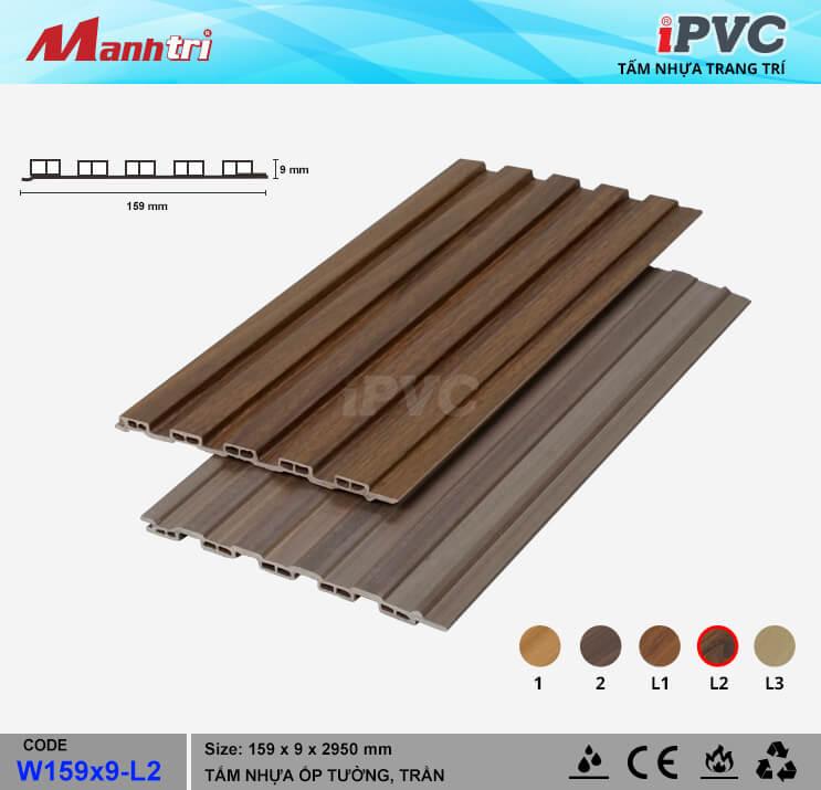 iPVC W159x9-L2 ốp trần, tường