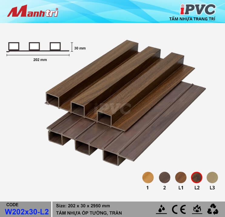 iPVC W202x30-L2 ốp trần, tường