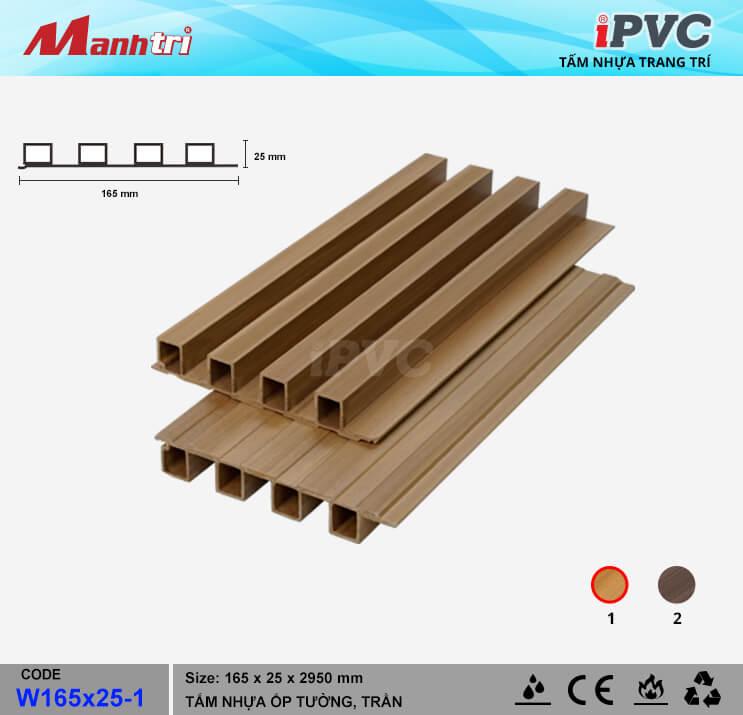 iPVC W165x25-1 ốp trần, tường