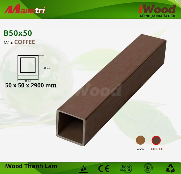 Thanh lam gỗ iWood B50x50-Coffee