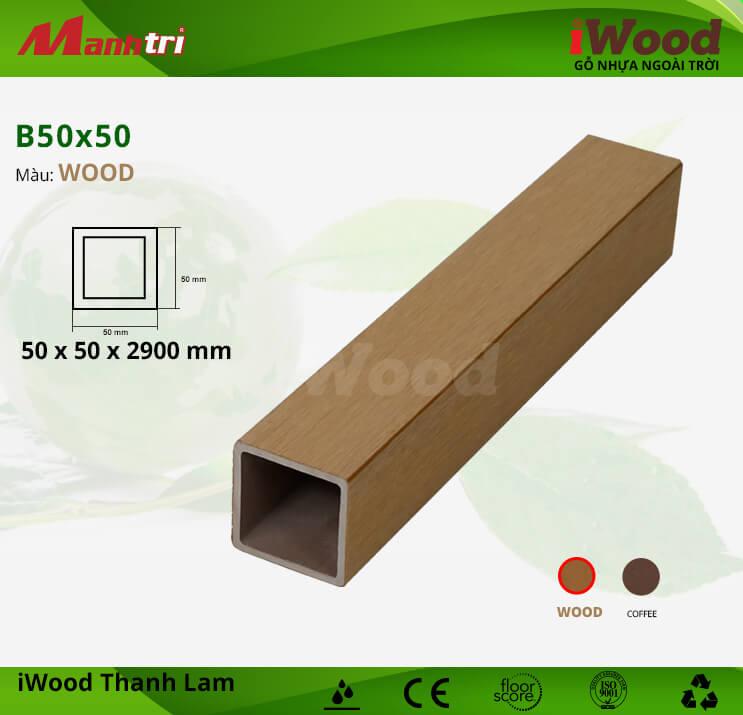 Thanh lam gỗ iWood B50x50-Wood