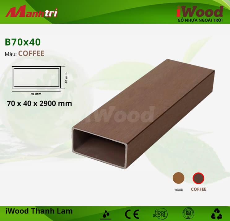 Thanh lam gỗ iWood B70x40-Coffee