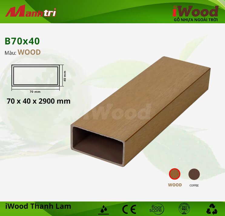 Thanh lam gỗ iWood B70x40-Wood
