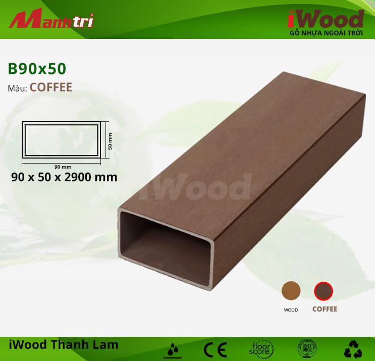 Thanh lam gỗ iWood B90x50-Coffee