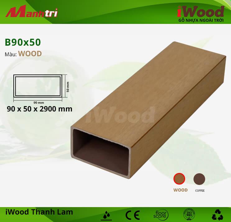 Thanh lam gỗ iWood B90x50-Wood