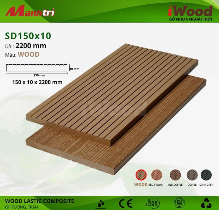 Ốp tường, trần gỗ iWood SD150x10-Wood
