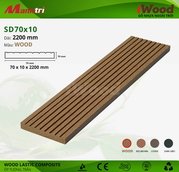 Ốp tường, trần gỗ iWood SD70x10-Wood