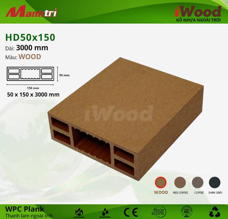Thanh lam gỗ iWood HD50x150-Wood