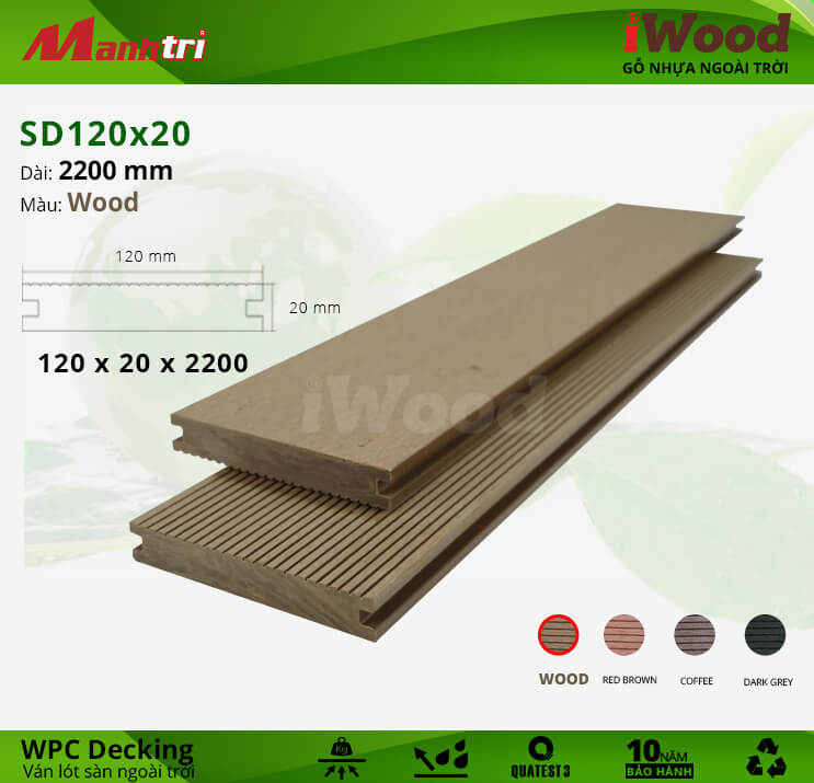Sàn gỗ iWood SD120x20-Wood