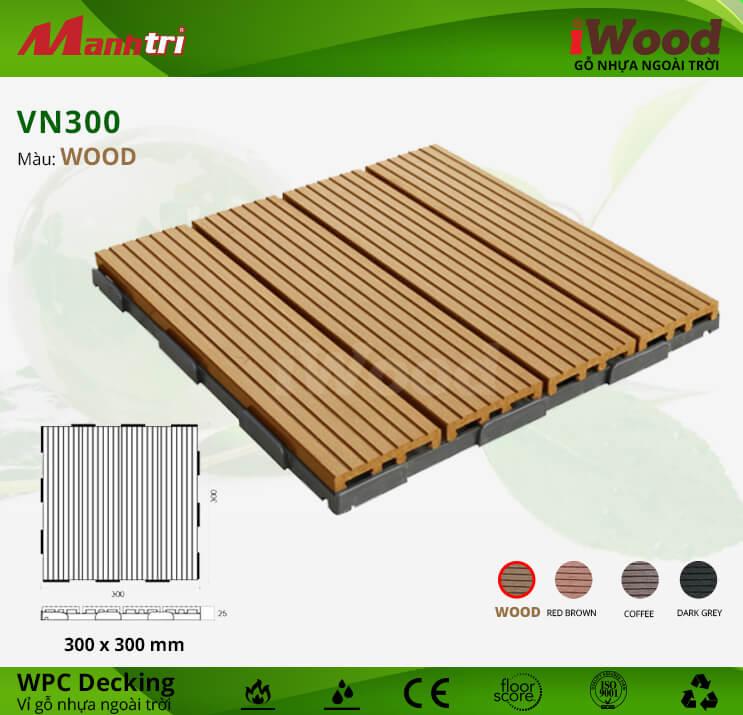 Vỉ Gỗ Nhựa Lót Sàn iWood VN300-Wood