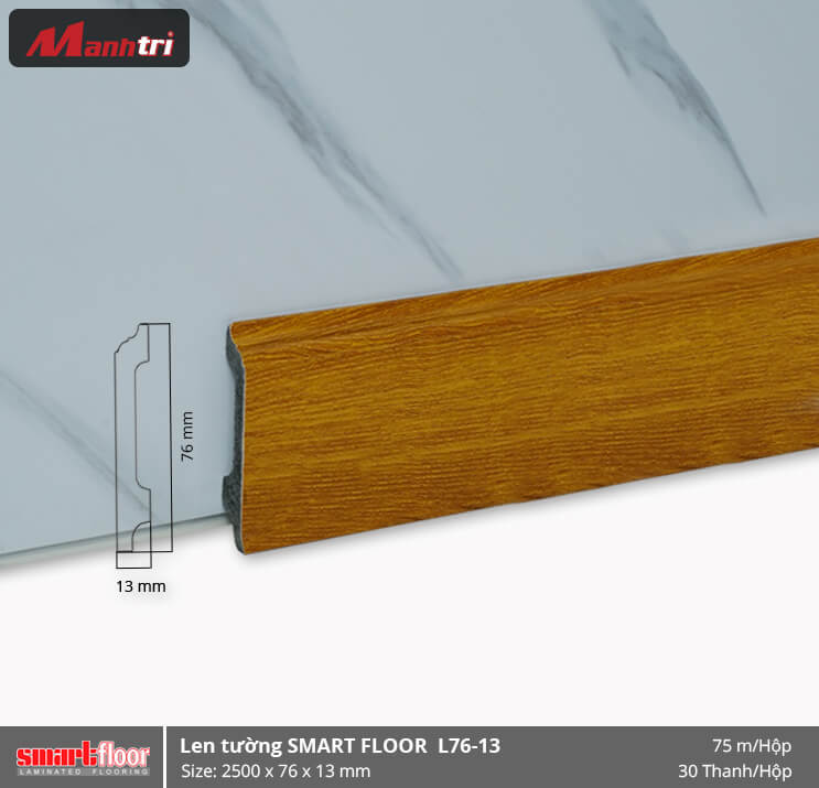 Len chân tường nhựa giả gỗ L76-13