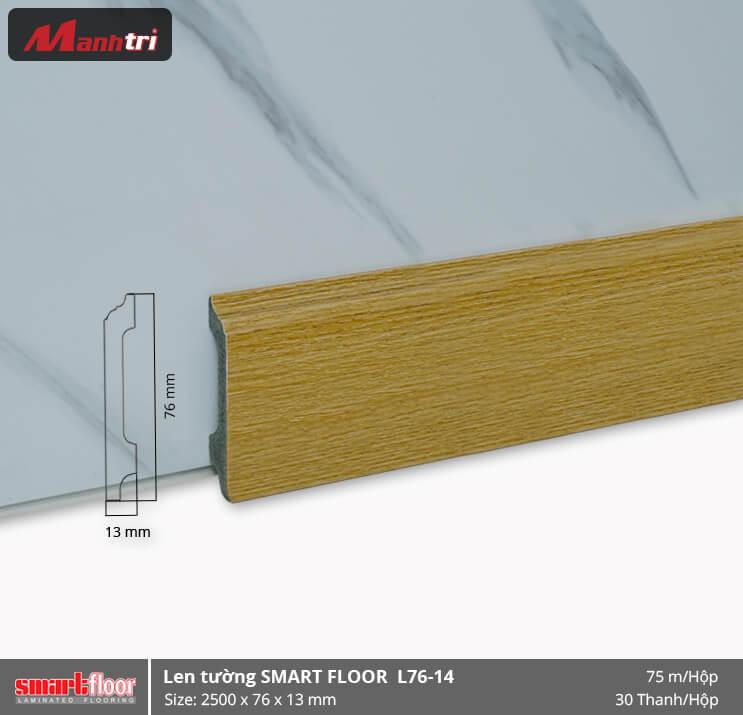 Len chân tường nhựa giả gỗ L76-14