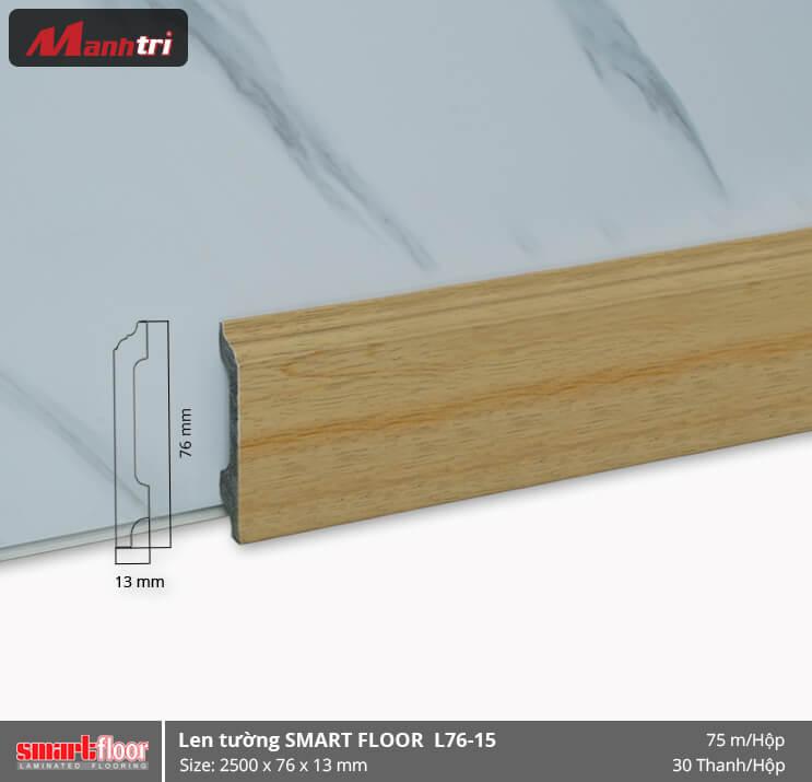 Len chân tường nhựa giả gỗ L76-15