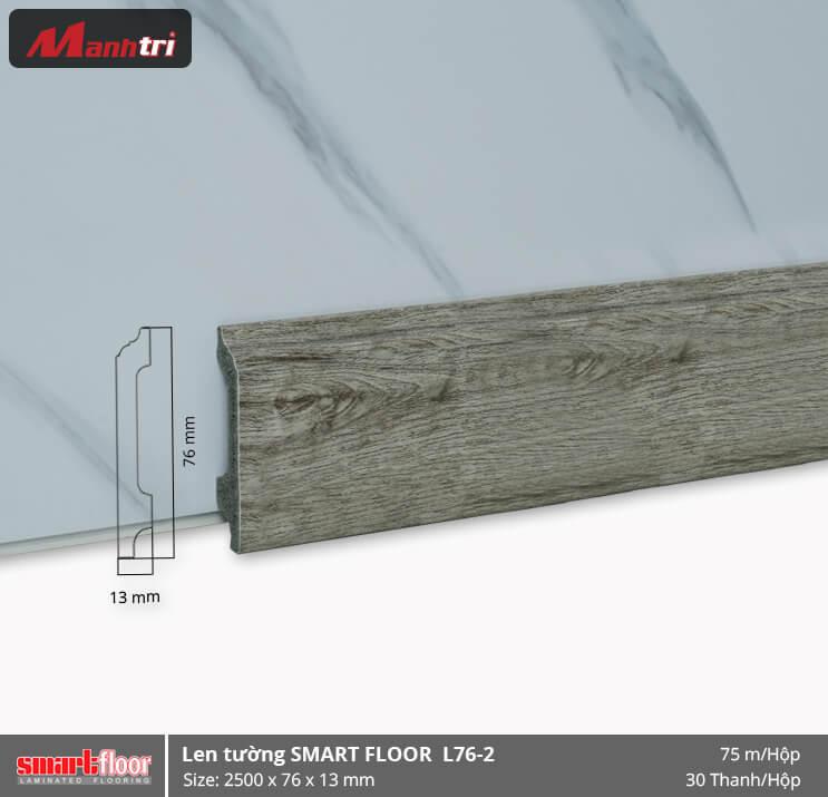 Len chân tường nhựa giả gỗ L76-2