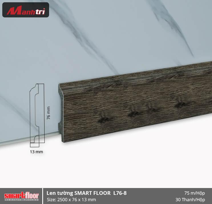 Len chân tường nhựa giả gỗ L76-8