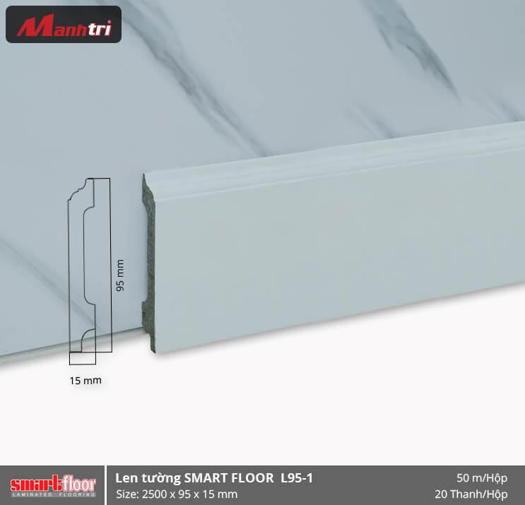 Len chân tường nhựa giả gỗ L95-1