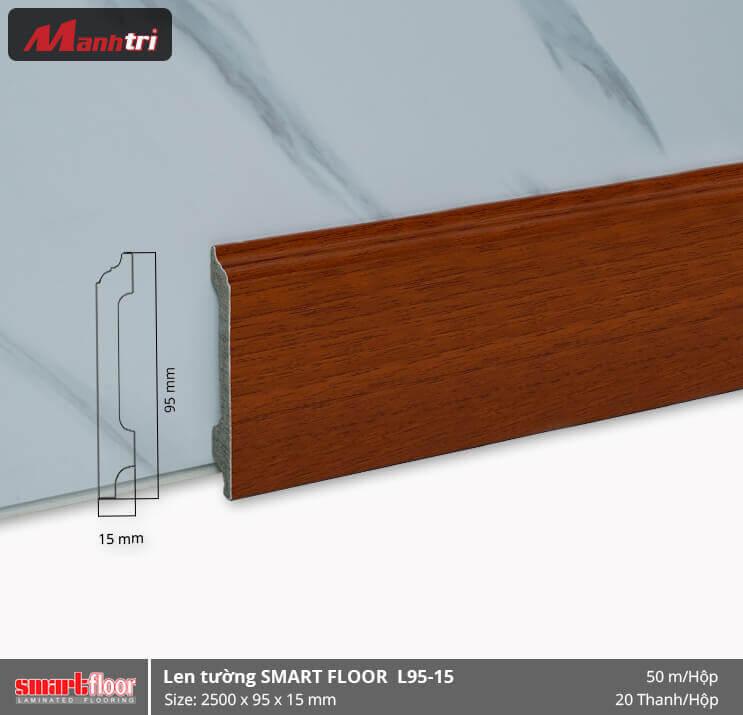 Len chân tường nhựa giả gỗ L95-12