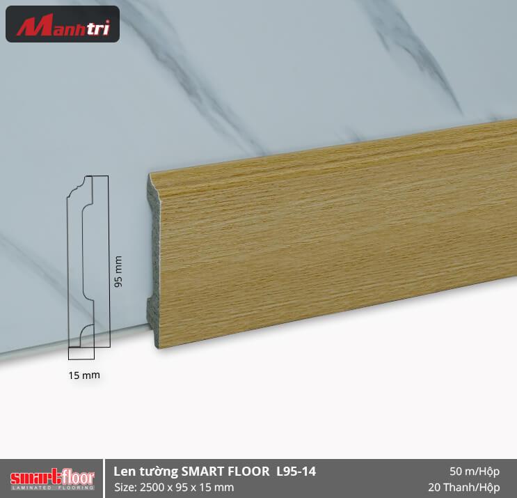 Len chân tường nhựa giả gỗ L95-14