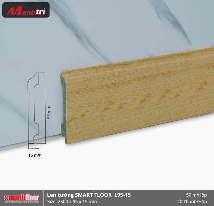 Len chân tường nhựa giả gỗ L95-15