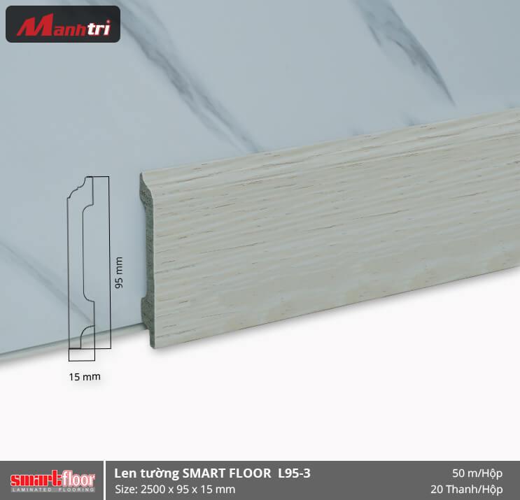 Len chân tường nhựa giả gỗ L95-3
