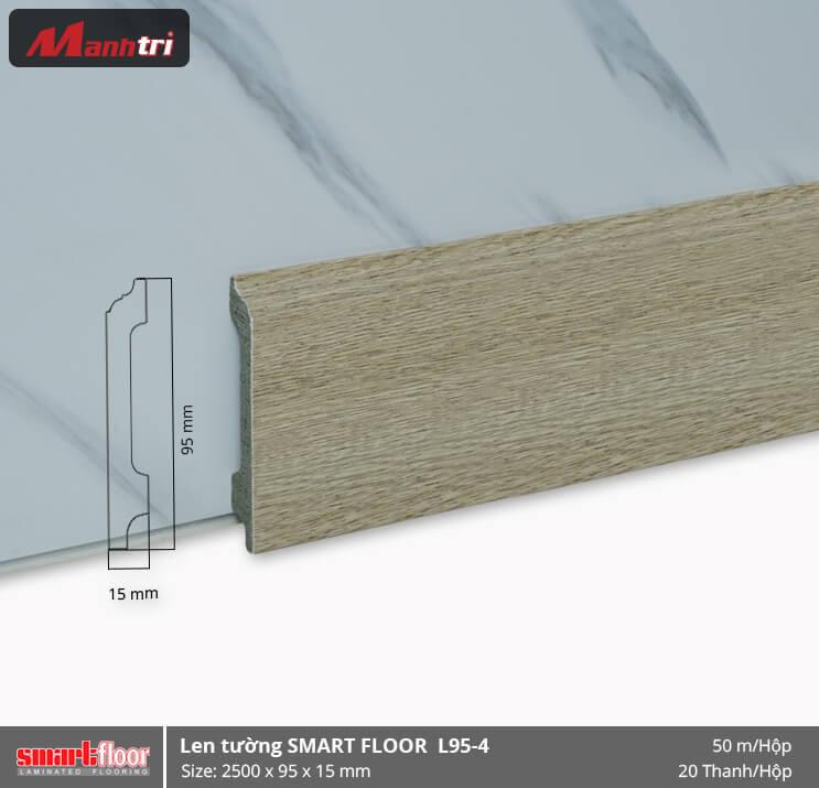 Len chân tường nhựa giả gỗ L95-4