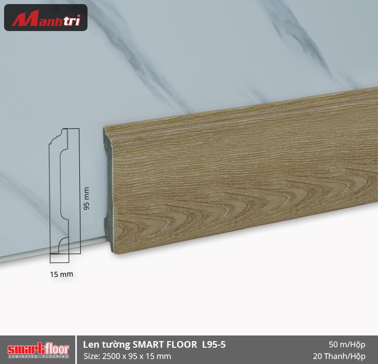 Len chân tường nhựa giả gỗ L95-5