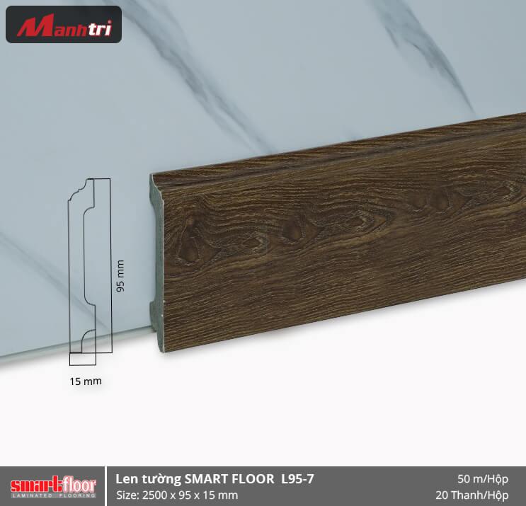 Len chân tường nhựa giả gỗ L95-7