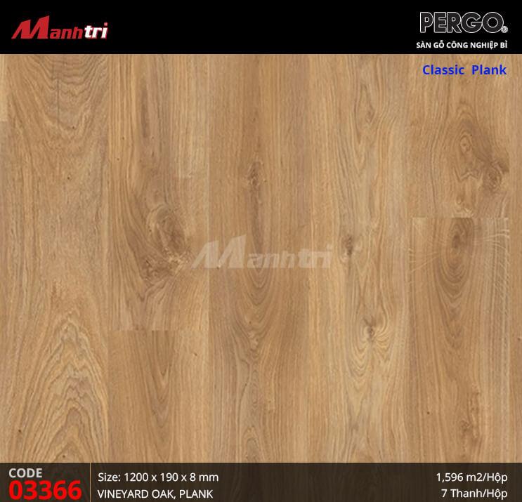 Sàn gỗ Pergo Classic Plank - 03366