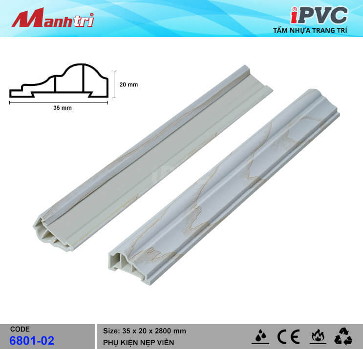 Nẹp Viền iPVC 6801-02