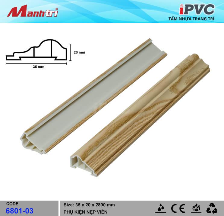 Nẹp Viền iPVC 6801-03