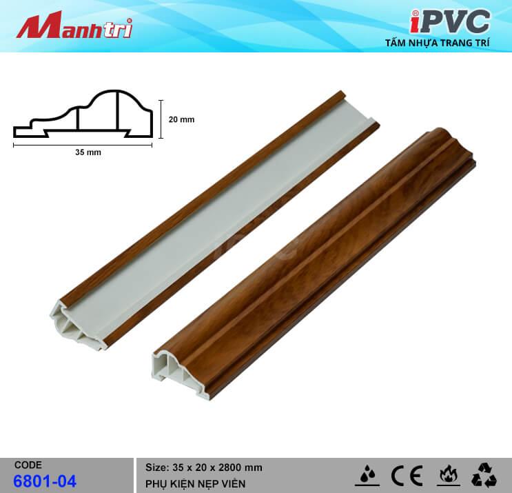 Nẹp viền iPVC 6801-04