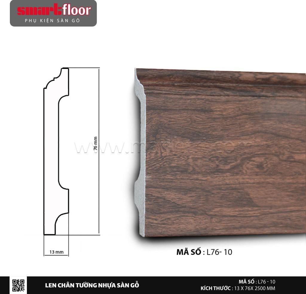 Len chân tường nhựa giả gỗ L76-10