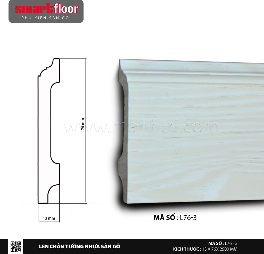 Len chân tường nhựa giả gỗ L76-3
